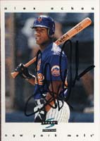Alex Ochoa New York Mets 1996 Score Autographed Card. This item comes with a certificate of authenticity from Autograph-Sports. PSM-Powers Sports Memorabilia