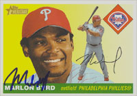 Marlon Byrd Philadelphia Phillies 2004 Topps Heritage Autographed Card. This item comes with a certificate of authenticity from Autograph-Sports. PSM-Powers Sports Memorabilia