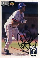 Curtis Pride Montreal Expos 1993 UD Collectors Choice Autographed Card - Rookie Card. This item comes with a certificate of authenticity from Autograph-Sports. PSM-Powers Sports Memorabilia