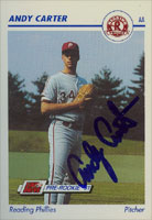 Andy Carter Reading Phillies - Phillies Affiliate 1991 Line Drive Pre-Rookie Autographed Card - Minor League Card. This item comes with a certificate of authenticity from Autograph-Sports. PSM-Powers Sports Memorabilia