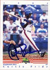 Curtis Pride Binghamton Mets - Mets Affiliate 1992 Classic Best Autographed Card - Minor League Card. This item comes with a certificate of authenticity from Autograph-Sports. PSM-Powers Sports Memorabilia