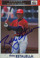Bobby Estalella Scranton/W-B Red Barons - Phillies Affiliate 1999 Blueline Autographed Card - Minor League Card. This item comes with a certificate of authenticity from Autograph-Sports. PSM-Powers Sports Memorabilia