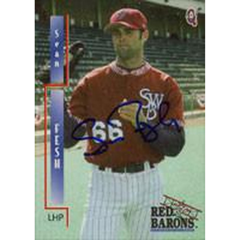 Sean Fesh Scranton/W-B Red Barons - Phillies Affiliate 2000 Blueline Autographed Card - Minor League Card. This item comes with a certificate of authenticity from Autograph-Sports.-Powers Sports Memorabilia