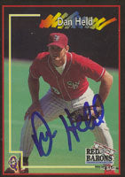 Dan Held Scranton/W-B Red Barons - Phillies Affiliate 1998 Blueline Autographed Card - Minor League Card. This item comes with a certificate of authenticity from Autograph-Sports. PSM-Powers Sports Memorabilia