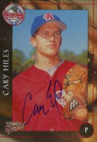Cary Hiles Reading Phillies - Phillies Affiliate 2001 Multi-Ad Sports Autographed Card - Minor League Card. This item comes with a certificate of authenticity from Autograph-Sports. PSM-Powers Sports Memorabilia