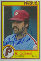 Al Holland Philadelphia Phillies 1984 Topps Nestle Autographed Card. This item comes with a certificate of authenticity from Autograph-Sports. PSM-Powers Sports Memorabilia