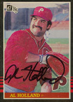 Al Holland Philadelphia Phillies 1985 Donruss Autographed Card. This item comes with a certificate of authenticity from Autograph-Sports. PSM-Powers Sports Memorabilia
