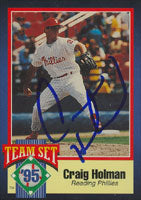 Craig Holman Reading Phillies - Phillies Affiliate 1995 Team Set Autographed Card - Minor League Card. This item comes with a certificate of authenticity from Autograph-Sports. PSM-Powers Sports Memorabilia