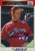 Al Leboeuf Scranton/W-B Red Barons - Phillies Affiliate 1999 Blueline Autographed Card - Minor League Card. This item comes with a certificate of authenticity from Autograph-Sports. PSM-Powers Sports Memorabilia