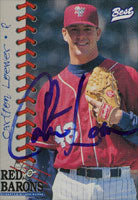 Carlton Loewer Scranton/W-B Red Barons - Phillies Affiliate 1997 Best Cards Autographed Card - Minor League Card. This item comes with a certificate of authenticity from Autograph-Sports. PSM-Powers Sports Memorabilia