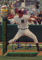Carlton Loewer Philadelphia Phillies 1994 Signiture Rookies Autographed Card. This item comes with a certificate of authenticity from Autograph-Sports. PSM-Powers Sports Memorabilia