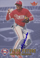 Anderson Machado Philadelphia Phillies 2002 Fleer Future Autographed Card. This item comes with a certificate of authenticity from Autograph-Sports.-Powers Sports Memorabilia