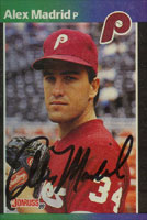 Alex Madrid Philadelphia Phillies 1989 Donruss Autographed Card. This item comes with a certificate of authenticity from Autograph-Sports. PSM-Powers Sports Memorabilia
