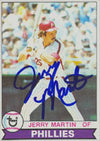 Jerry Martin Philadelphia Phillies 1979 Topps Autographed Card. This item comes with a certificate of authenticity from Autograph-Sports. PSM-Powers Sports Memorabilia