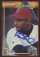 Billy McMillon Scranton/W-B Red Barons - Phillies Affiliate 1998 Blueline Autographed Card - Minor League Card. This item comes with a certificate of authenticity from Autograph-Sports. PSM-Powers Sports Memorabilia