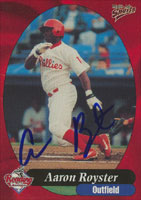 Aaron Royster Reading Phillies - Phillies Affiliate 1999 Multi-Ad Sports Autographed Card - Minor League Card. This item comes with a certificate of authenticity from Autograph-Sports. PSM-Powers Sports Memorabilia