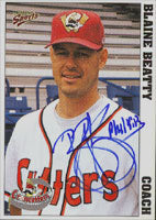 Blaine Beatty Williamsport Crosscutters - Pirates Affiliate 1999 Multi-Ad Sports Autographed Card - Minor League Card. This item comes with a certificate of authenticity from Autograph-Sports. PSM-Powers Sports Memorabilia