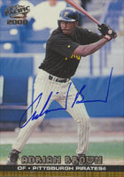 Adrian Brown Pittsburgh Pirates 2000 Pacific Autographed Card. This item comes with a certificate of authenticity from Autograph-Sports. PSM-Powers Sports Memorabilia