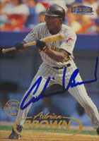 Adrian Brown Pittsburgh Pirates 1998 Fleer Tradition Autographed Card. This item comes with a certificate of authenticity from Autograph-Sports. PSM-Powers Sports Memorabilia