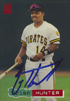 Brian Hunter Pittsburgh Pirates 1994 Topps Stadium Club   Autographed Card. This item comes with a certificate of authenticity from Autograph-Sports. PSM-Powers Sports Memorabilia