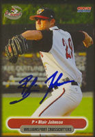 Blair Johnson Williamsport Crosscutters - Pirates Affiliate 2004 Choice Autographed Card - Minor League Card. This item comes with a certificate of authenticity from Autograph-Sports. PSM-Powers Sports Memorabilia