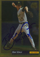 Blas Minor Pittsburgh Pirates 1993 Score Gold Rush Autographed Card. This item comes with a certificate of authenticity from Autograph-Sports. PSM-Powers Sports Memorabilia