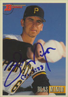 Blas Minor Pittsburgh Pirates 1993 Bowman Autographed Card. This item comes with a certificate of authenticity from Autograph-Sports. PSM-Powers Sports Memorabilia