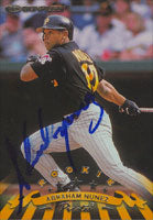 Abraham Nunez Pittsburgh Pirates 1998 Donruss Rookie Autographed Card. This item comes with a certificate of authenticity from Autograph-Sports. PSM-Powers Sports Memorabilia
