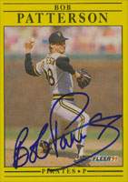 Bob Patterson Pittsburgh Pirates 1991 Fleer Autographed Card. This item comes with a certificate of authenticity from Autograph-Sports. PSM-Powers Sports Memorabilia
