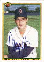 Danny Heep Boston Red Sox 1990 Bowman Autographed Card. This item comes with a certificate of authenticity from Autograph-Sports. PSM-Powers Sports Memorabilia