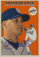 Brandon Kolb San Diego Padres 2000 Fleer Tradition Autographed Card. This item comes with a certificate of authenticity from Autograph-Sports. PSM-Powers Sports Memorabilia