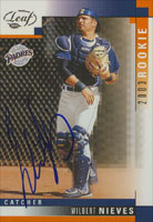 Wilbert Nieves San Diego Padres 2003 Leaf Rookie Autographed Card. This item comes with a certificate of authenticity from Autograph-Sports. PSM-Powers Sports Memorabilia