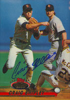 Craig Shipley San Diego Padres 1993 Topps Stadium Club Autographed Card. This item comes with a certificate of authenticity from Autograph-Sports. PSM-Powers Sports Memorabilia