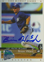 Brian Ward Fort Wayne Wizards - Padres Affiliate 2000 Kane County Cougars Autographed Card - Minor League Card. This item comes with a certificate of authenticity from Autograph-Sports. PSM-Powers Sports Memorabilia