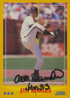 Atlee Hammaker San Francisco Giants 1988 Score Autographed Card. This item comes with a certificate of authenticity from Autograph-Sports. PSM-Powers Sports Memorabilia