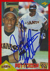John Patterson San Francisco Giants 1994 Score Rookie Autographed Card. This item comes with a certificate of authenticity from Autograph-Sports. PSM-Powers Sports Memorabilia
