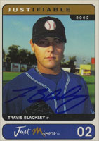 Travis Blackley Seattle Mariners 2002 Just Memorabilia Autographed Card. This item comes with a certificate of authenticity from Autograph-Sports. PSM-Powers Sports Memorabilia