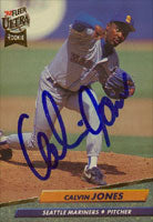 Calvin Jones Seattle Mariners 1992 Fleer Ultra Rookie Autographed Card. This item comes with a certificate of authenticity from Autograph-Sports. PSM-Powers Sports Memorabilia