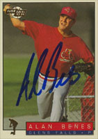 Alan Benes Glens Falls Redbirds - Cardinals Affiliate 1994 Fleer Excel Autographed Card - Minor League Card. This item comes with a certificate of authenticity from Autograph-Sports. PSM-Powers Sports Memorabilia