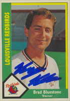 Brad Bluestone Louisville Redbirds - Cardinals Affiliate 1990 CMC Autographed Card - Minor League Card. This item comes with a certificate of authenticity from Autograph-Sports. PSM-Powers Sports Memorabilia