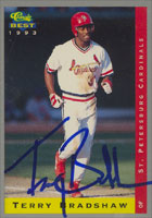 Terry Bradshaw St. Petersburg Cardinals - Cardinals Affiliate 1993 Classic Best Autographed Card - Minor League Card. This item comes with a certificate of authenticity from Autograph-Sports. PSM-Powers Sports Memorabilia