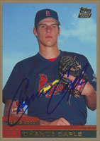 Chance Caple St. Louis Cardinals 2000 Topps Rookie Card Autographed Card. This item comes with a certificate of authenticity from Autograph-Sports. PSM-Powers Sports Memorabilia