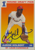 Aaron Holbert St. Louis Cardinals 1991 Score Autographed Card. This item comes with a certificate of authenticity from Autograph-Sports. PSM-Powers Sports Memorabilia