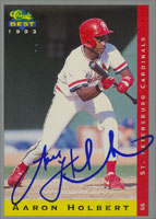 Aaron Holbert St. Petersburg Cardinals - Cardinals Affiliate 1993 Classic Best Autographed Card - Minor League Card. This item comes with a certificate of authenticity from Autograph-Sports. PSM-Powers Sports Memorabilia