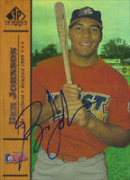 Ben Johnson Peoria Chiefs - Cardinals Affiliate 2000 Upper Deck SP Top Prospects Autographed Card - Minor League Card. This item comes with a certificate of authenticity from Autograph-Sports. PSM-Powers Sports Memorabilia