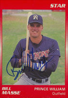 Bill Masse Prince William Cannons - Cardinals Affiliate 1989 Star Autographed Card - Minor League Card. This item comes with a certificate of authenticity from Autograph-Sports. PSM-Powers Sports Memorabilia