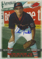 Chris Tuttle New Jersey Cardinals - Cardinals Affiliate 2003 Grandstand Autographed Card - Minor League Card. This item comes with a certificate of authenticity from Autograph-Sports. PSM-Powers Sports Memorabilia
