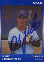 Andy Tomberlin Durham Bulls - Atlanta Braves Affiliate 1989 Star Autographed Card - Minor League Card. This item comes with a certificate of authenticity from Autograph-Sports. PSM-Powers Sports Memorabilia