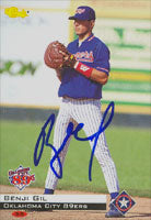 Benji Gil Oklahoma City 89ers - Rangers Affiliate 1994 Classic Autographed Card - Minor League Card. This item comes with a certificate of authenticity from Autograph-Sports. PSM-Powers Sports Memorabilia