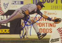 Benji Gil Oklahoma City 89ers - Rangers Affiliate 1994 Action Packed Autographed Card - Minor League Card. This item comes with a certificate of authenticity from Autograph-Sports.-Powers Sports Memorabilia